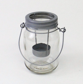 Candle Holder - Mason Jar Tealight holder - PTC6265 - MIN ORDER: 6