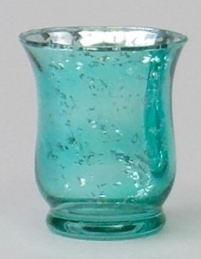 Candle Holder - Mercury Glass Hurricane  - Blue - PTC6219 - MIN ORDER: 6