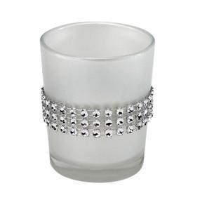 Candle Holder - Pearl w Rhinestones - PTC5888 - MIN ORDER: 6