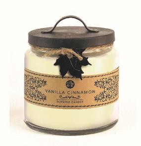 Fall - Candle - 2 wick Jar - 14 oz - Vanilla Cinnamon - FAL5859 - MIN ORDER: 4