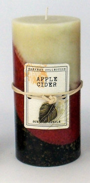 Fall - Candle - 3X6 Mottled Pillar Apple Cider - KMT6972 - MIN ORDER: 4