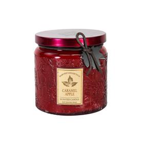 Fall - Candle - Embossed Jar 13oz - Carmel Apple - FAL6753 - MIN ORDER: 4