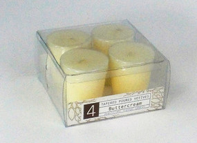 Fall - Candle - Votive - 4pk Tapered - Buttercream - HAR3123 - MIN ORDER: 8
