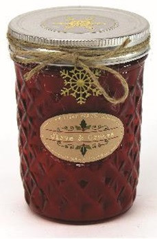 Holiday - Candle - Quilted Jelly Jar 11.5 oz - Cinnamon Apple - HOL8621-MJ - MIN ORDER: 4