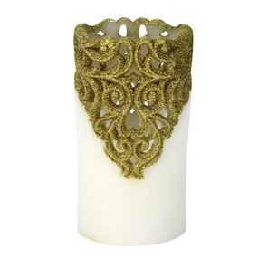 LED - Pillar - Gold 3X6 5hr Timer - PTC8562 - MIN ORDER: 4