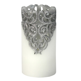 LED - Pillar - Silver 3X6 5hr Timer - PTC8563 - MIN ORDER: 4