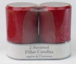 Candle - Pillar - 3x5 - 2 pack Pillar Ocean Mist - FM3868 - MIN ORDER: 4