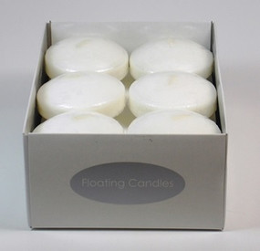 Candle - Basics - Floating 3in 12 pack White - Individual Selling Units in Shelf Displayc - PTC5308 - MIN ORDER: 12
