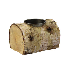 Candle Holder - Birch Bark Single Tealight Holder - PTC8614 - MIN ORDER: 6