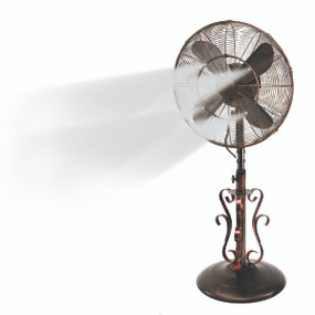 "Design Aire 18"" Indoor/Outdoor Fan RIVERSIDE - With Misting Kit - NO COVER"