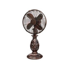 Table Fan - Fleur De Lis
