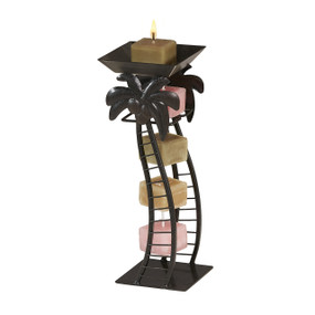 Candle On a Rope Holder - Cat - NAT3187 - MIN ORDER: 4
