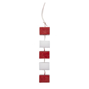 Candle on Rope - Red & White