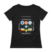 The Interstellar Enneagram Ladies' Scoopneck T-Shirt