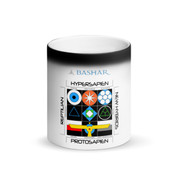 The Interstellar Enneagram Matte Black Magic Mug