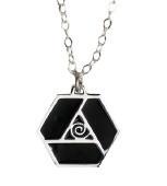 Large Triskilion Pendant Necklace (Silver)