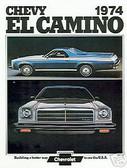 1974 74 EL CAMINO/SS454 SALES BROCHURE