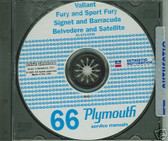 66 PLYMOUTH BARRACUDA/SATELLITE SHOP/BODY MANUAL ON CD