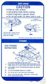 1970 FIREBIRD COUPE (LATE) JACK INSTRUCTION DECAL