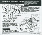 1967 CAMARO/RS/SS (REG WHEEL) JACK INSTRUCT DECAL