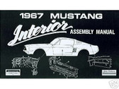 1967 67 FORD MUSTANG INTERIOR ASSEMBLY MANUAL