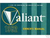 1962 62 PLYMOUTH VALIANT OWNER'S MANUAL