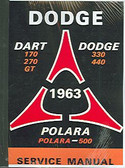 1963 63 DODGE DART/330/440 SERIES SHOP MANUAL