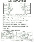 1963 1964 DART/VALIANT JACK INSTRUCTION DECAL