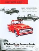 1956 FORD TRUCK SALES BROCHURE-F-100-F-250-F-350