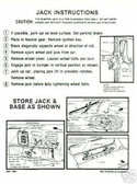 1967 CHARGER/CORONET/BELVEDERE JACK INSTRUCTION DECAL