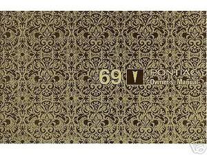 1969  69  PONTIAC  FIREBIRD//GTO OWNER/'S  MANUAL