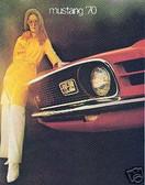 1970 70 MUSTANG/ MACH 1 SALES BROCHURE