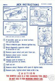 1969 DODGE CORONET/RT/BELVEDERE JACK INSTRUCTION DECAL