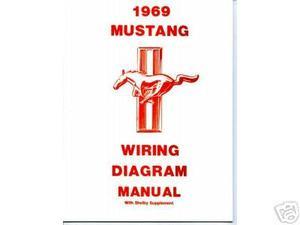 1969 69 mustang/mach 1 wiring diagram manual