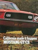 1968 MUSTANG GT/CSSALES BROCHURE-CALIFORNIA SPECIAL
