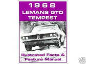 1968 68 PONTIAC GTO/ LEMANS ILLUSTRATED FACTS
