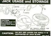 1969 COUGAR/XR-7 JACK INSTRUCTION DECAL-STYLED WHEEL