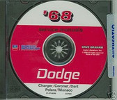 1968 DODGE CHARGER/CORONET/DART SHOP/BODY MANUAL ON CD