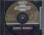 1967 CAMARO/SSCHEVELLE/SS SHOP BODY REPAIR MANUAL ON CD