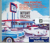 1964 PONTIAC GTO/TEMPEST SHOP/BODY /PARTS MANUAL ON CD