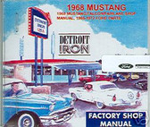 1968 MUSTANG/GT SHOP/BODY /PARTS MANUAL ON CD