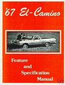 1967 EL CAMINO/CUSTOM 396 ILLUSTRATED FACTS MANUAL