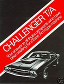 1970 DODGE CHALLENGER T/A SALES BROCHURE