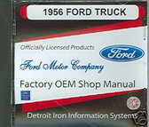 1956 FORD TRUCK SHOP/BODY MANUAL ON CD