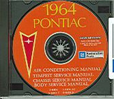 1964 PONTIAC GTO/ TEMPEST SHOP/BODY MANUAL ON CD