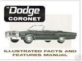 1966 66 DODGE CORONET ILLUSTRATED FACTS
