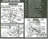 1970 1971 CAMARO (REG WHEEL) JACK INSTRUCT DECAL