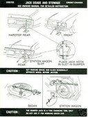1972 DODGE CHARGER/RT/CORONET JACK INSTRUCTION DECAL