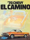 1978 EL CAMINO/SS SALES BROCHURE