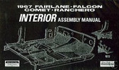 1967 67 FORD FAIRLANE INTERIOR ASSEMBLY MANUAL